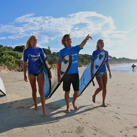Learn to surf in Byron Bay with our course of three surf lessons