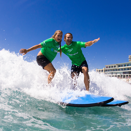 Family Surf Lesson at Lets Go Surfing Bondi Surf School