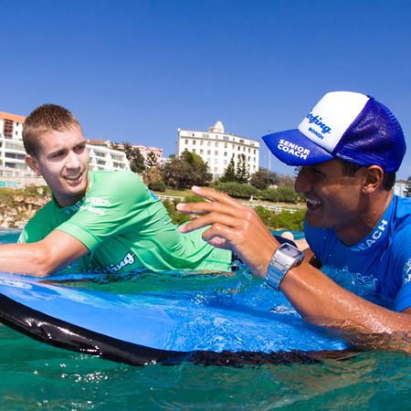Learn to surf at Bondi Beach with a private instructor.