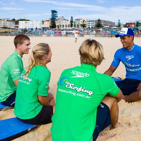 Learn to Surf with our three surf lessons course - Lets Go Surfing Surf School Bondi Beach