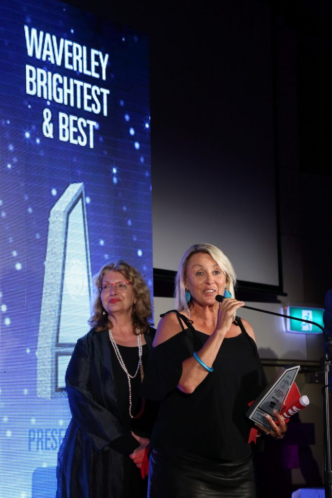 Brenda Miley accepting the awards for the best in Specialised business category